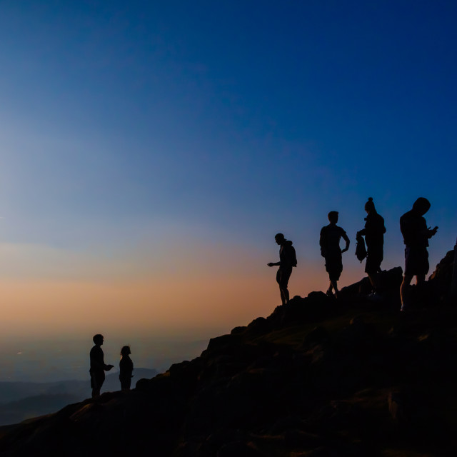 """summit silhouette"" stock image"