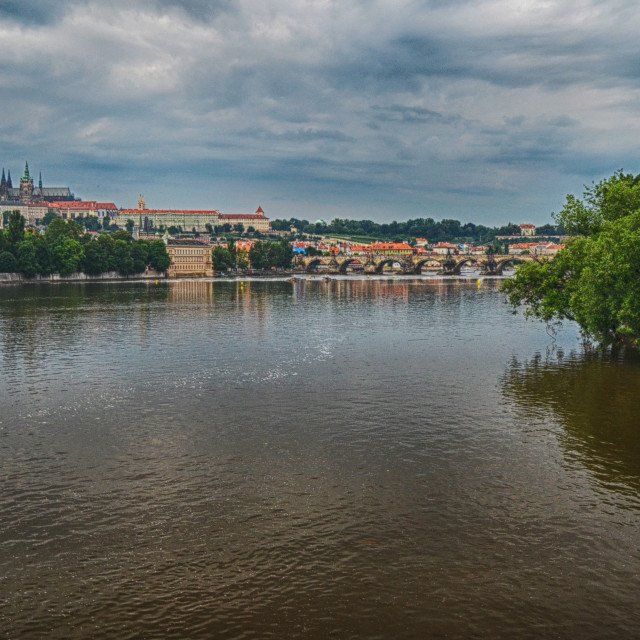 """View of Prague"" stock image"