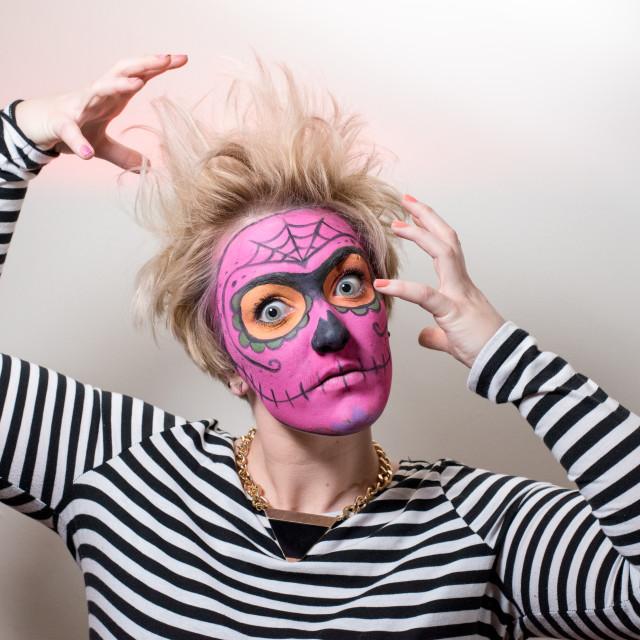 """Face paint Zombie"" stock image"