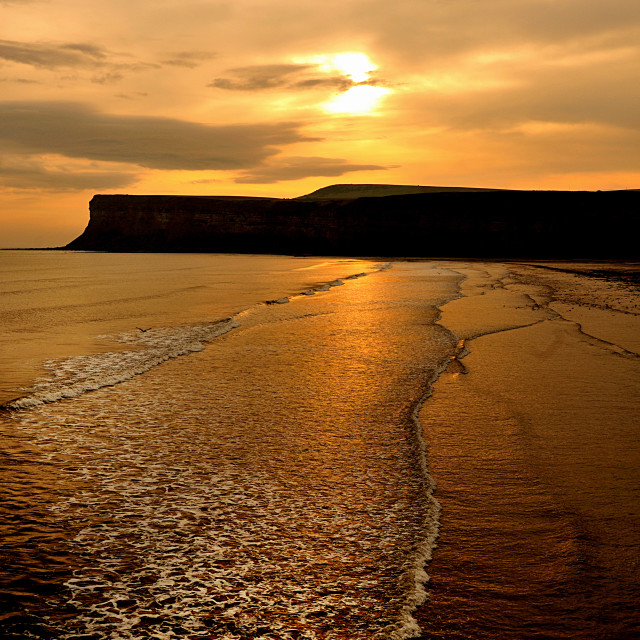 """Saltburn Sunrise (upright)"" stock image"