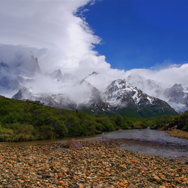 """Mount Fitzroy"" stock image"