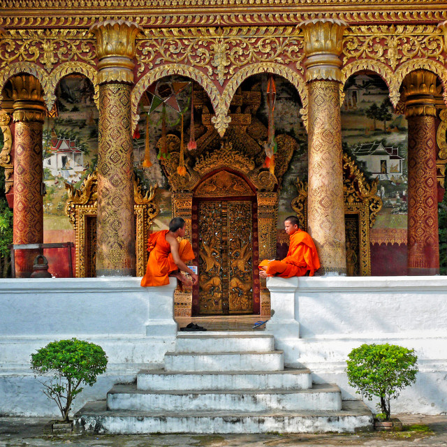 """TEMPLE IN LUANG PRABANG"" stock image"