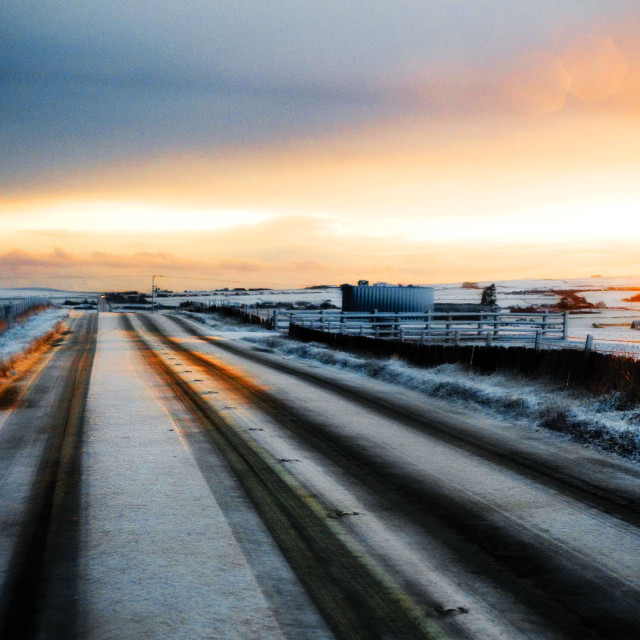"""Snowy Road"" stock image"