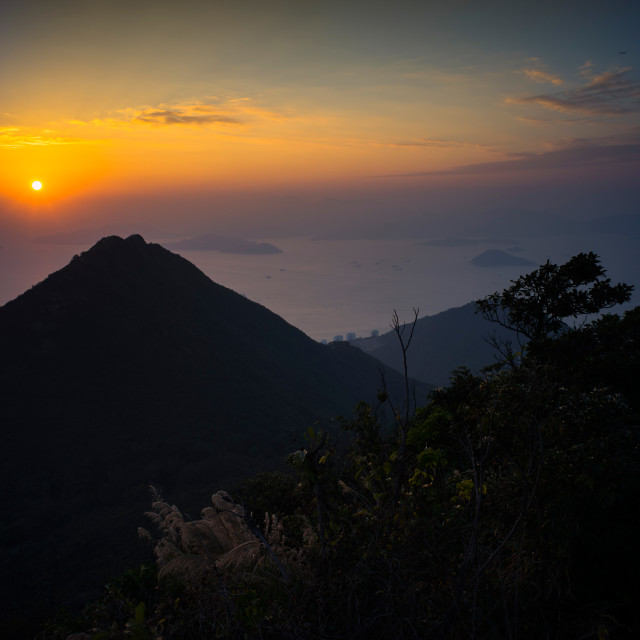 """Victoria Peak Sunset VIII"" stock image"