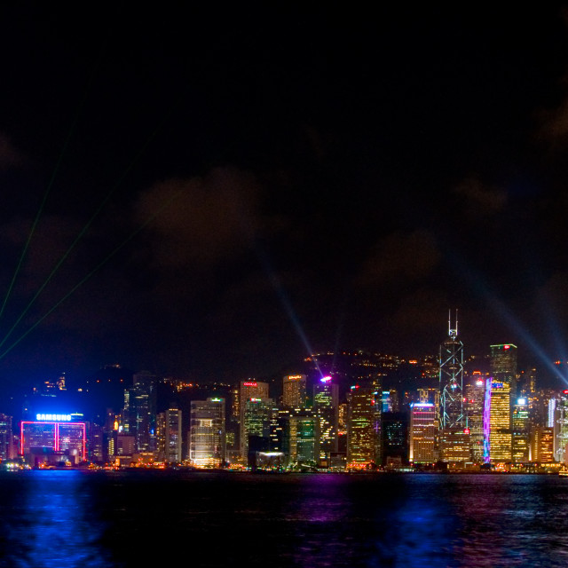 """Hong Kong Light Show"" stock image"