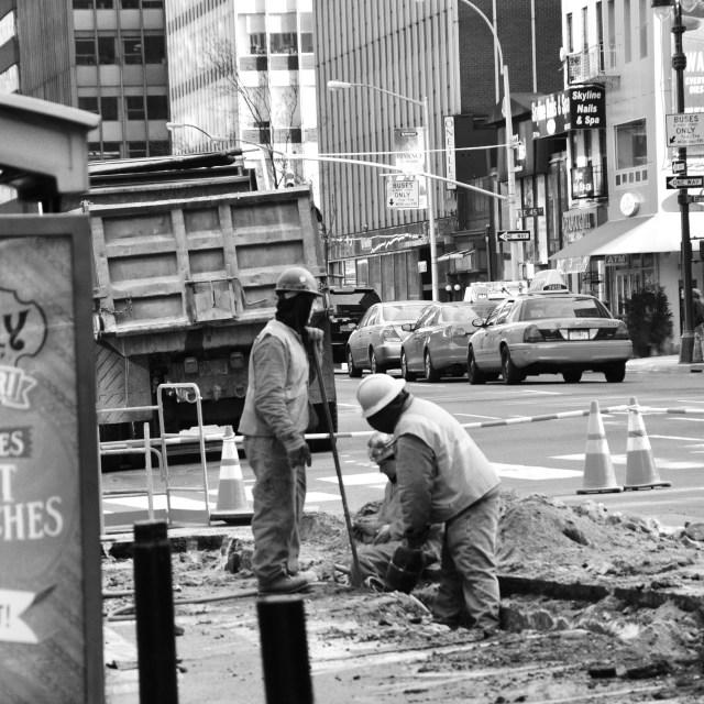 """Roadworks, NYC"" stock image"