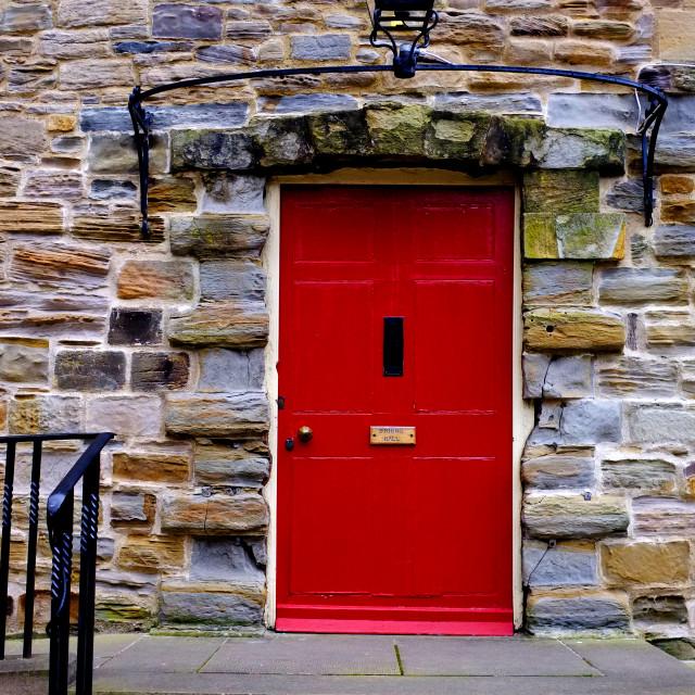 """""""Red Door (upright)"""" stock image"""
