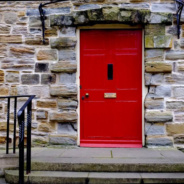 """""""Red Door (wide)"""" stock image"""