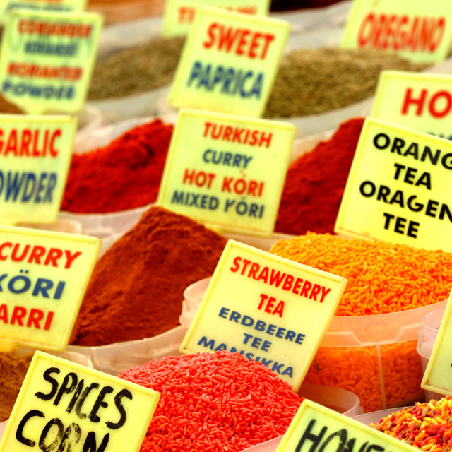 """Spices for Sale"" stock image"