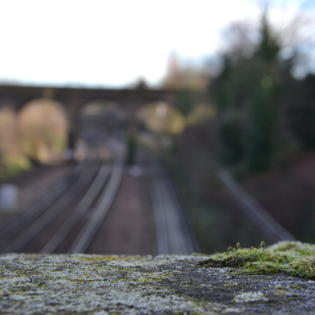 """Putney Railway Tracks"" stock image"