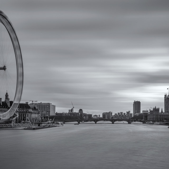 """""""London Eye and the Houses of Parliament"""" stock image"""