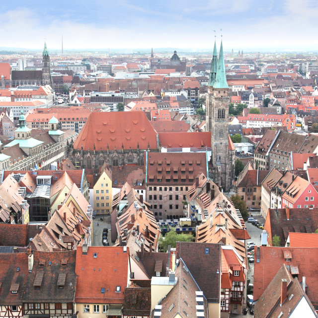 """View of Nuremberg in Germany"" stock image"