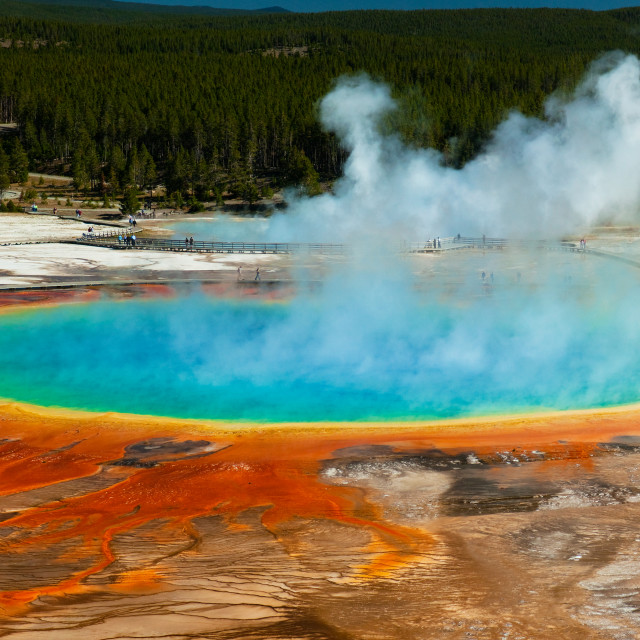 """Grand Prismatic Spring, Yellowstone"" stock image"