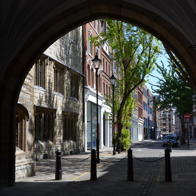 """St John's Gate"" stock image"