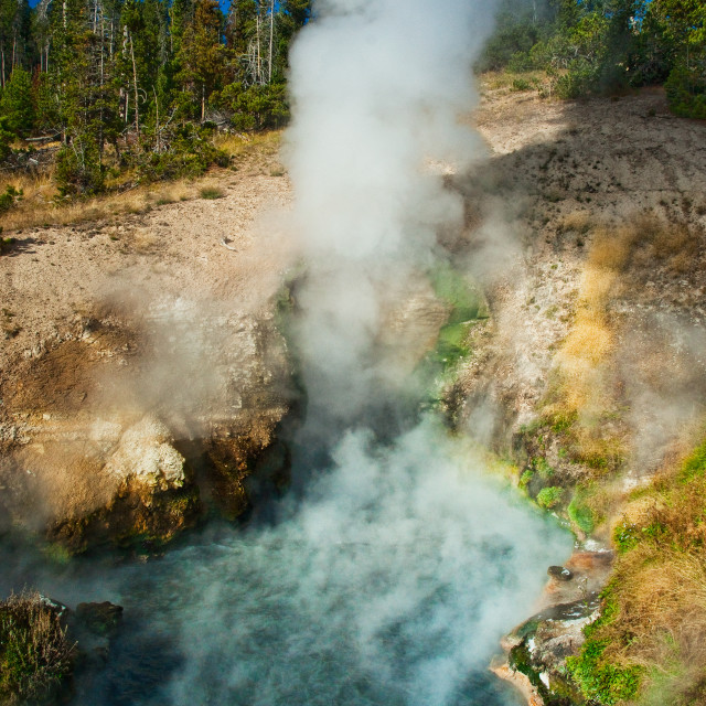 """Green Dragon Hot Spring"" stock image"