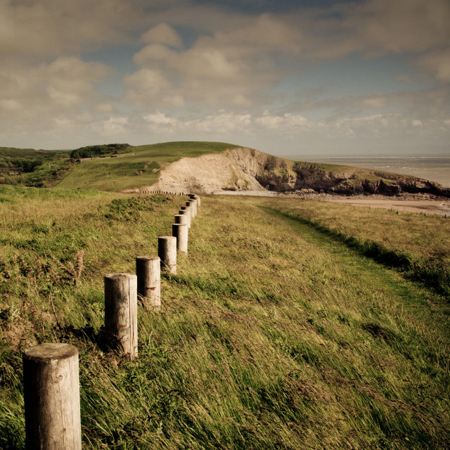 """""""Dunraven Bay, South Wales"""" stock image"""