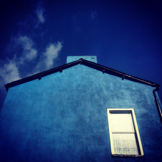 """blue house"" stock image"