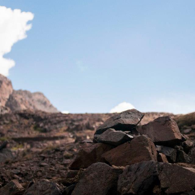 """Mount Toubkal Summit"" stock image"