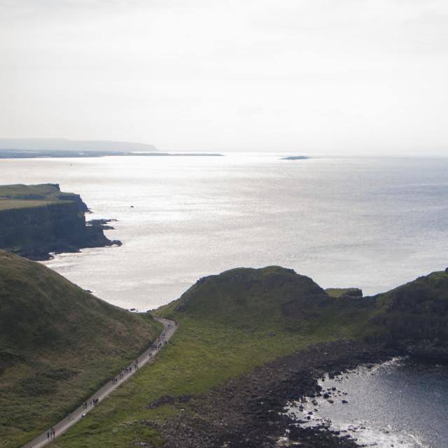 """""""Antrim Coastline"""" stock image"""