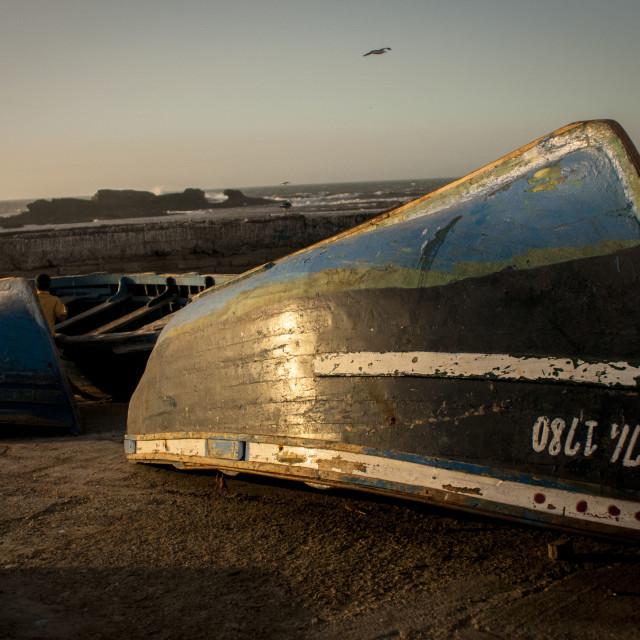 """""""Essaouira Fishing Boat"""" stock image"""