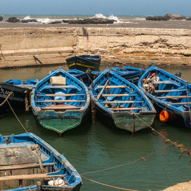 """Essaouira Fishing Scene"" stock image"