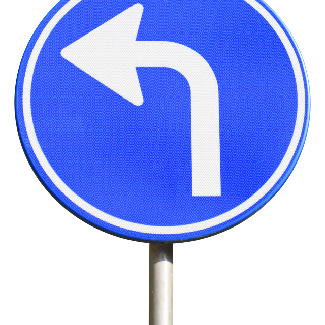 """Turn left"" stock image"