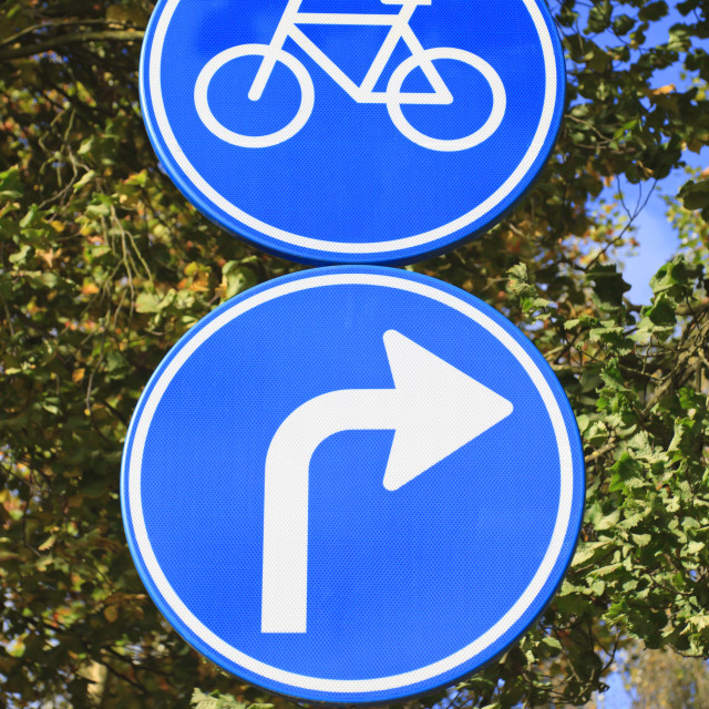 """""""Dutch blue road sign"""" stock image"""