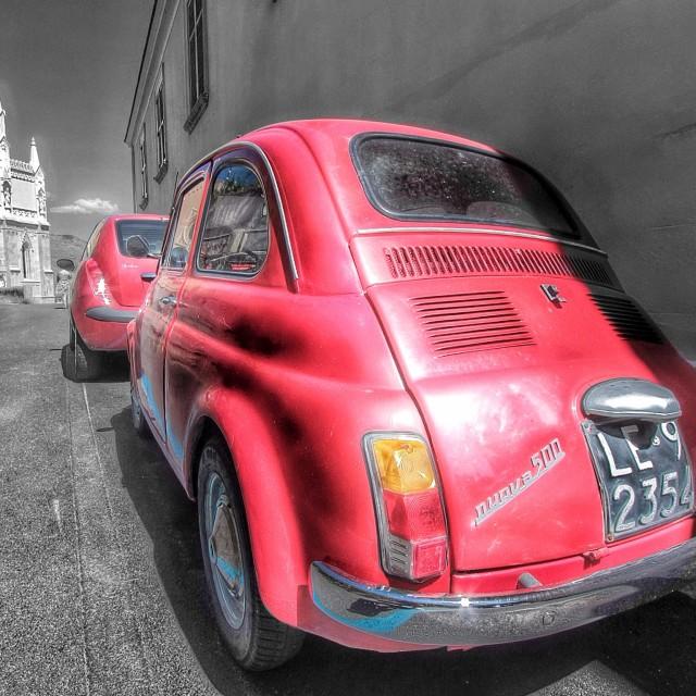 """Vintage Fiat 500"" stock image"