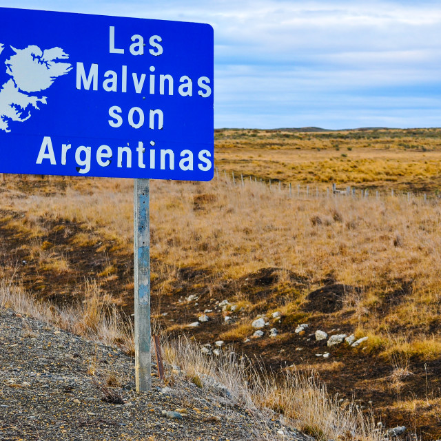 """""""The Falklands are Argentine"""" stock image"""