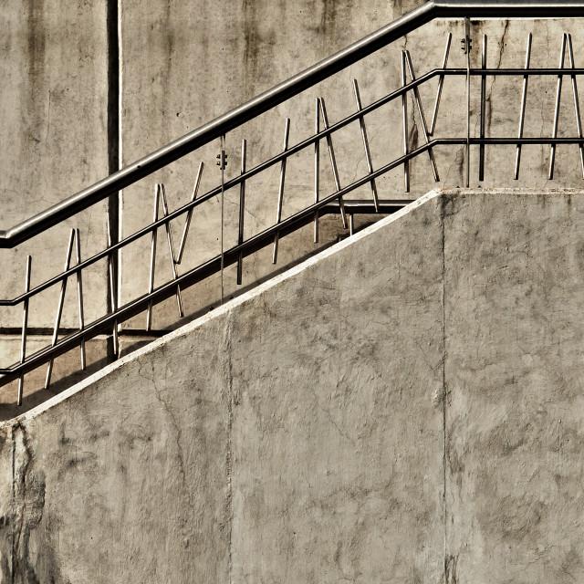 """Gray Concrete Stairway"" stock image"