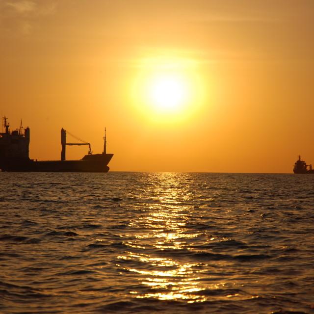 """Dubai Sunset"" stock image"