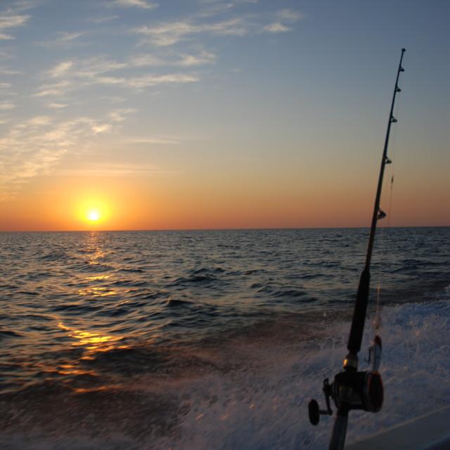 """Fishing the Gulf"" stock image"