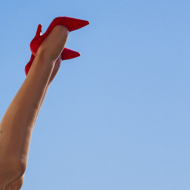 """legs in the sky"" stock image"