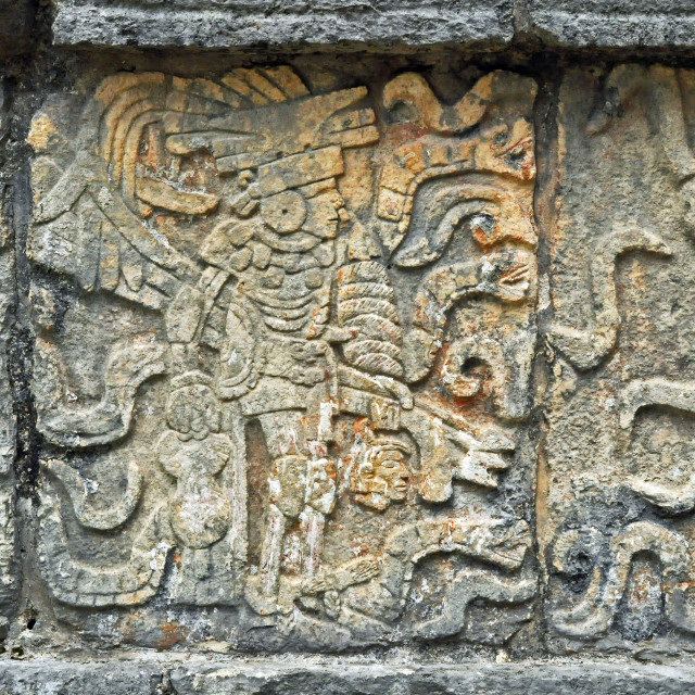 """Mayan carving"" stock image"