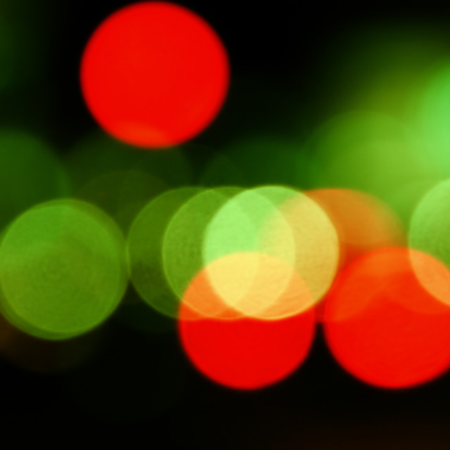 """city lights abstract circles"" stock image"