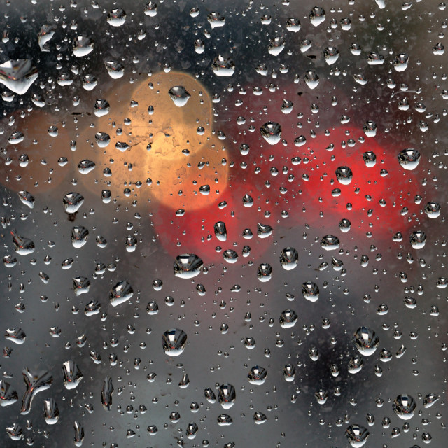 """raindrops on glass background"" stock image"