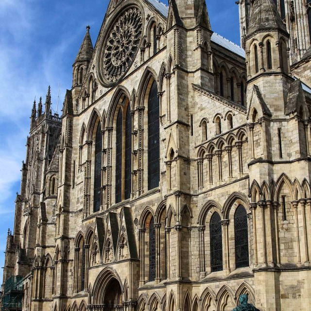 """York Minster, south transept"" stock image"