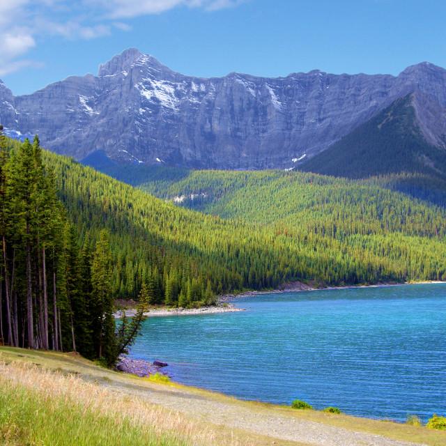 """Kananaskis Lake and Mountain - Canada"" stock image"