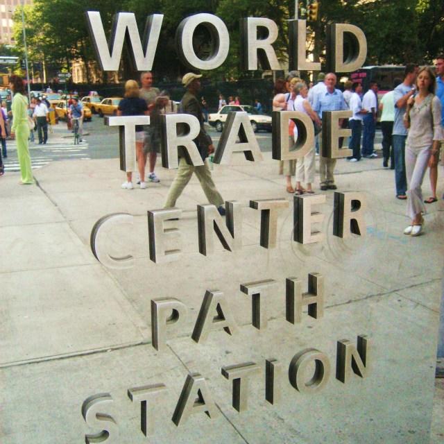 """Path Train Sign"" stock image"