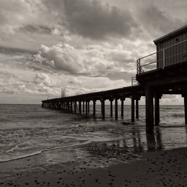 """claremont pier"" stock image"