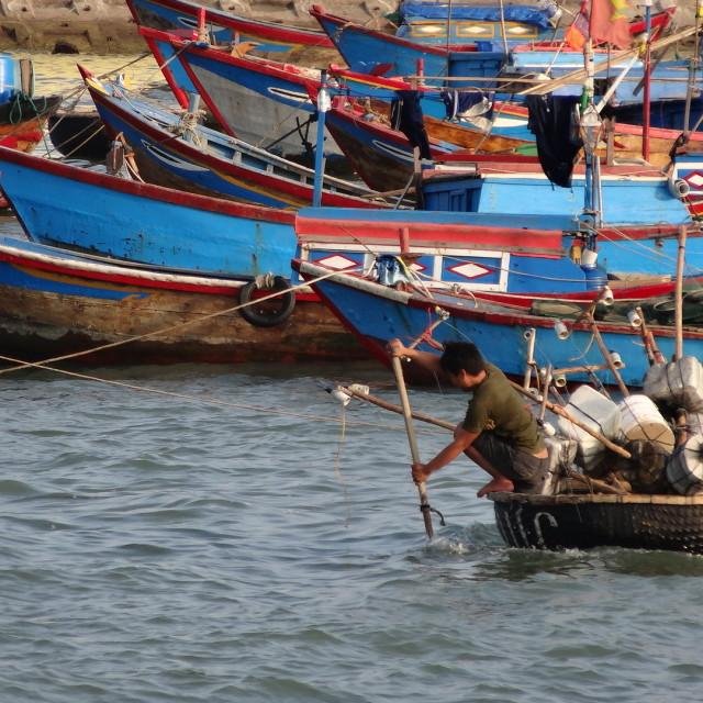 """""""Fishing - Nha Trang"""" stock image"""