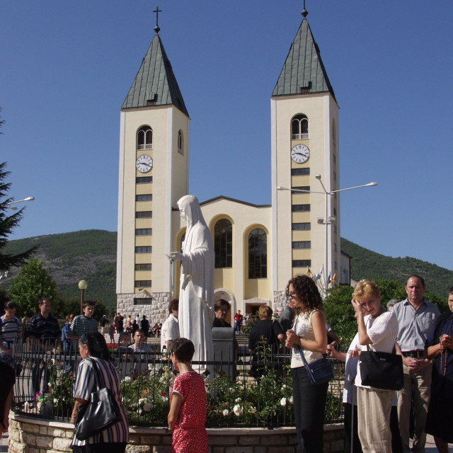 """Queen of Peace-Medjugorje"" stock image"