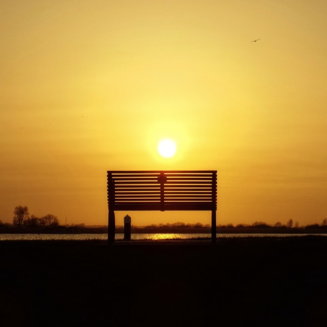 """sunset seat"" stock image"