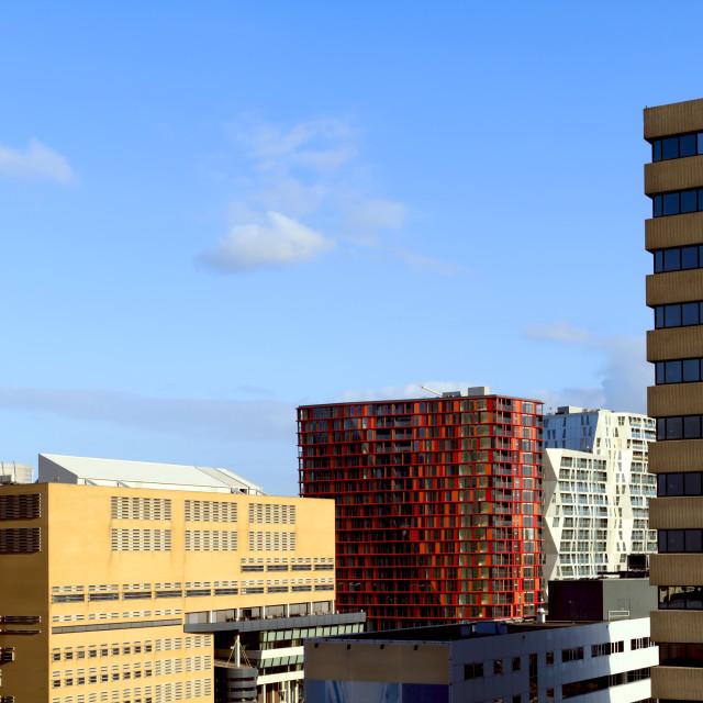 """City skyline of Rotterdam"" stock image"