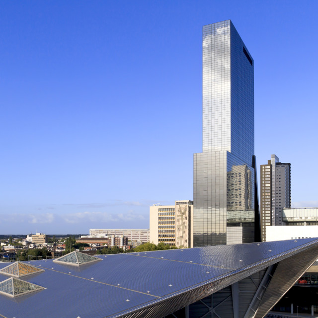 """Rotterdam city skyline 1"" stock image"