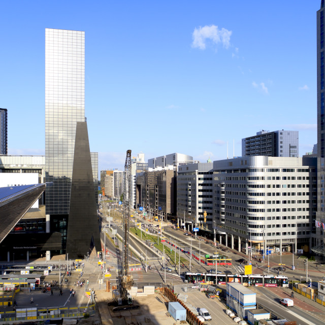 """""""Construction of Rotterdam Central Station"""" stock image"""