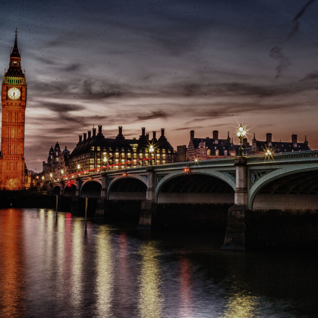 """Sunset Over Parliament"" stock image"