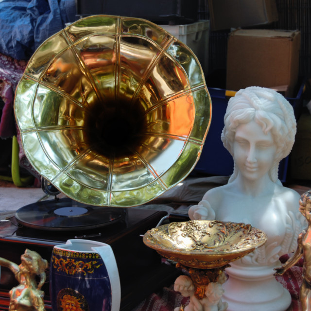 """vintage gramophone"" stock image"