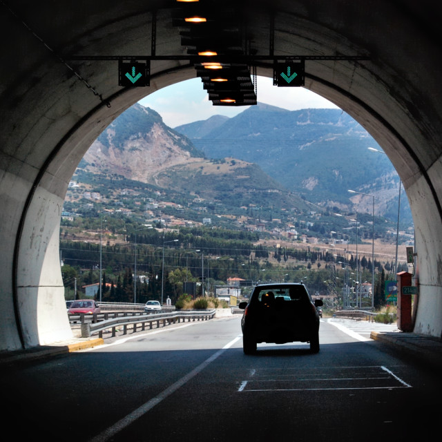"""motorway tunnel"" stock image"
