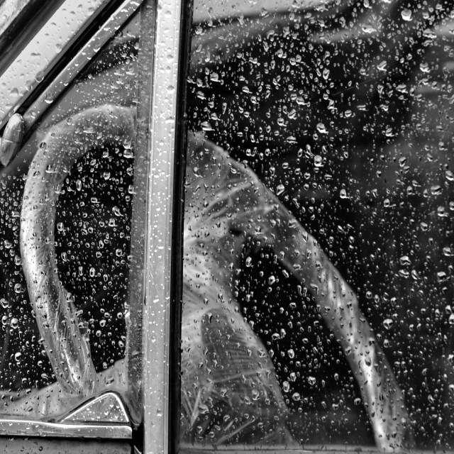 """""""vintage car steering wheel"""" stock image"""
